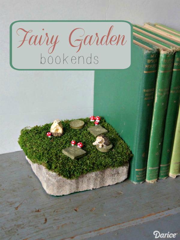 DIY Fairy Garden Decor Bookends - Darice Diy fairy garden, Fairy