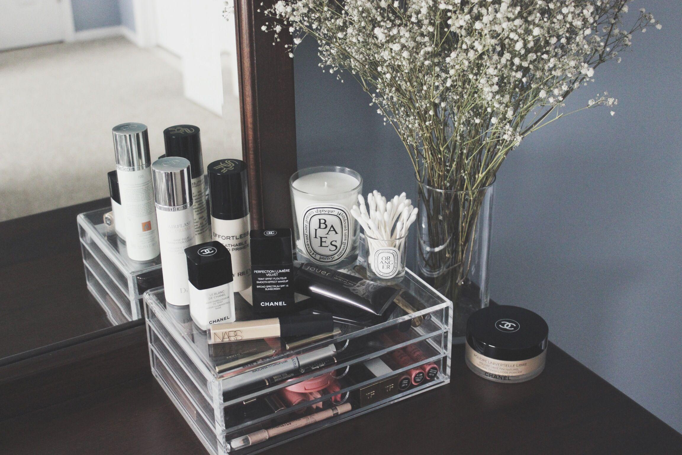 Badezimmer eitelkeit shaker stil spinning acrylic makeup organizer  makeup organization  pinterest