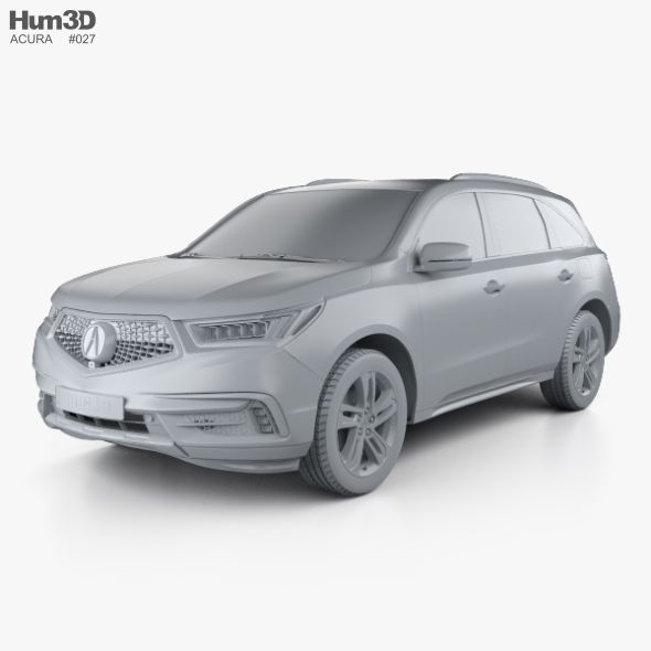 Acura MDX Sport Hybrid With HQ Interior 2017 #AD #Sport