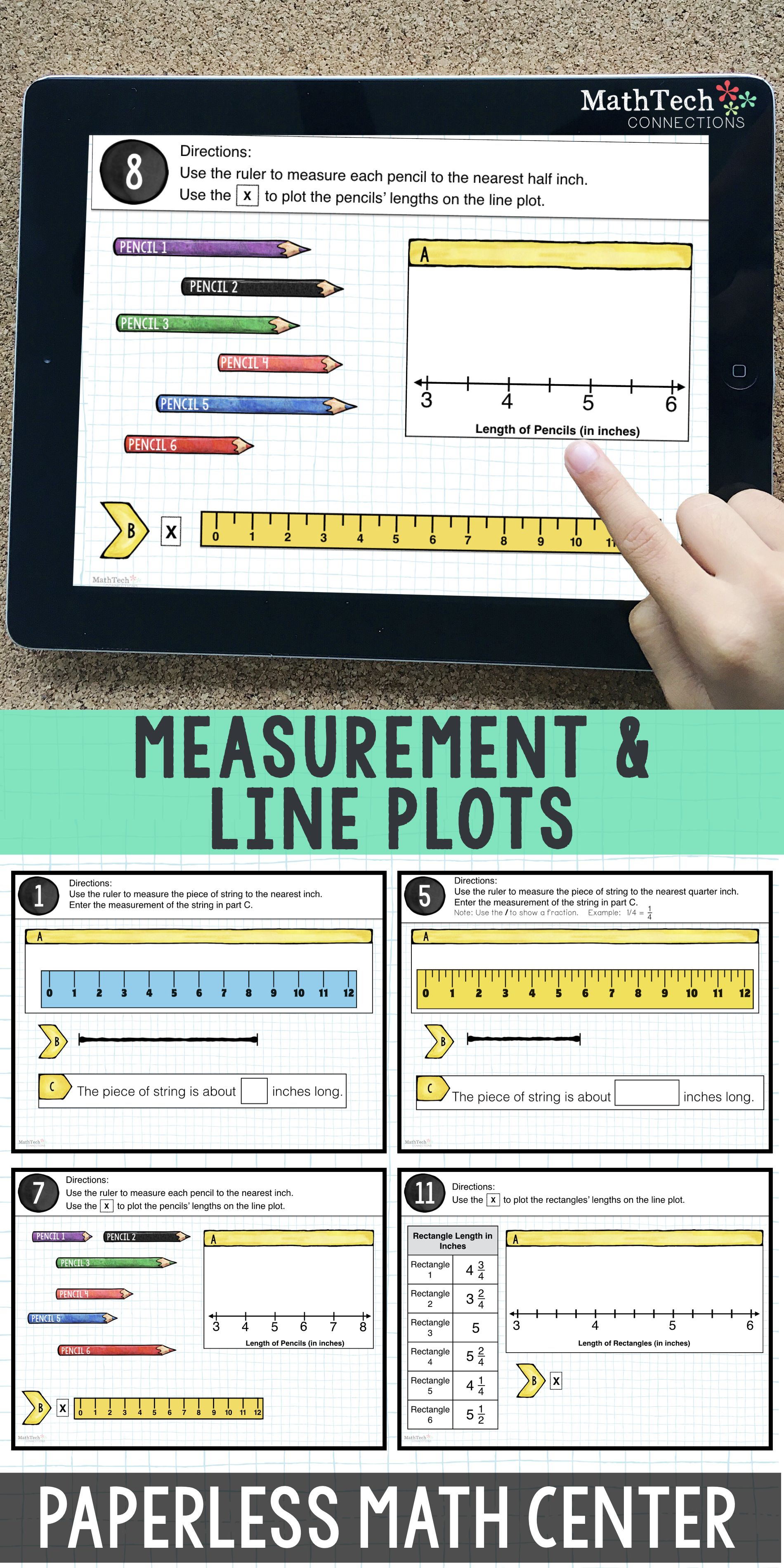 3rd Grade Measurement Amp Fractions On Line Plots