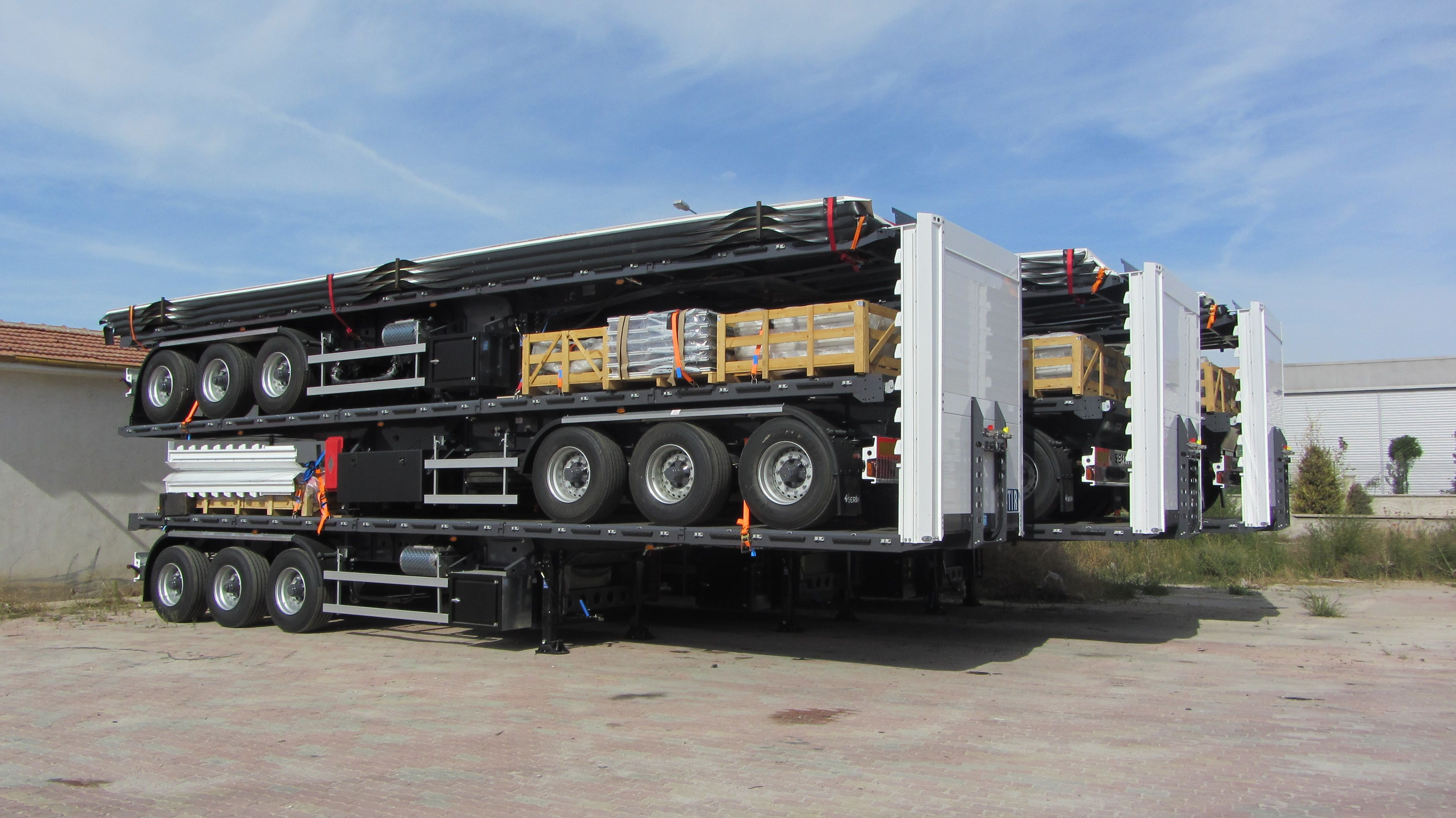 3 Pcs Curtain Side Semi Trailer As One Set Read For Export