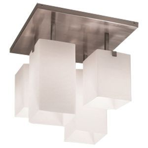 Really cool geometric flush-mount lighting that would be great for the kitchen or small bathroom spaces.