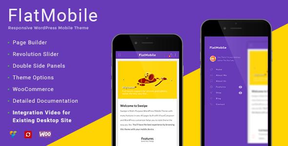 FlatMobile - Responsive WordPress Mobile Theme