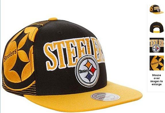 cf42dfc5d NFL Pittsburgh Steelers Snapback Hats Black Mitchell And Ness 4822 ...