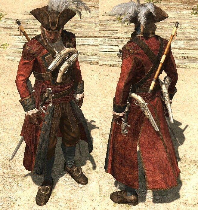 I Just Thought This Was A Fun Design Flag Outfit Assassins Creed Assassins Creed Black Flag