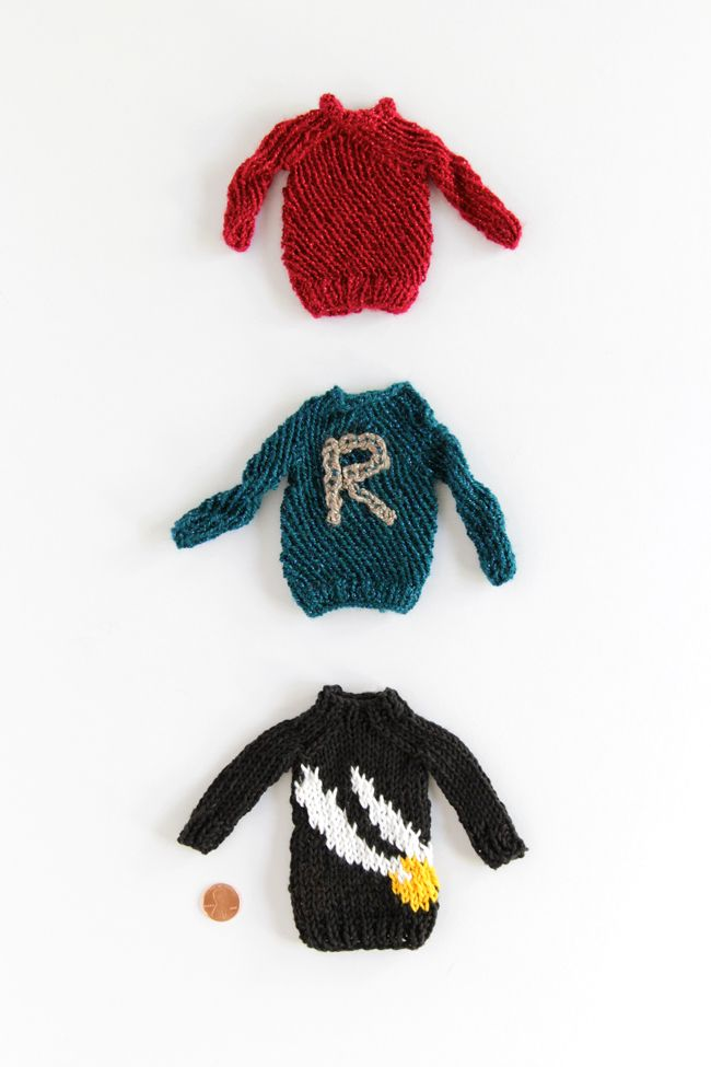 Free patterns for tiny Weasley sweaters! | crochet | Pinterest ...