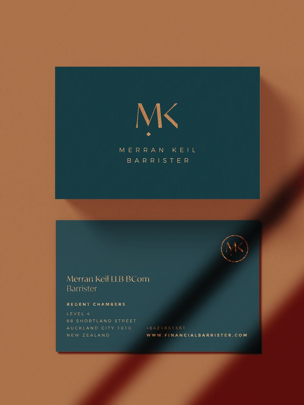 Copper Foil Business Cards In 2021 Professional Business Card Design Graphic Design Business Card Business Card Design Simple