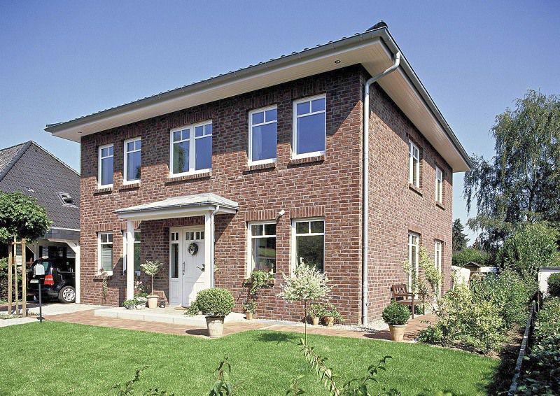 Stadtvilla roter klinker  Stadtvilla mit 153,86 qm Wohnfläche - überdachter Eingang | Ideen ...