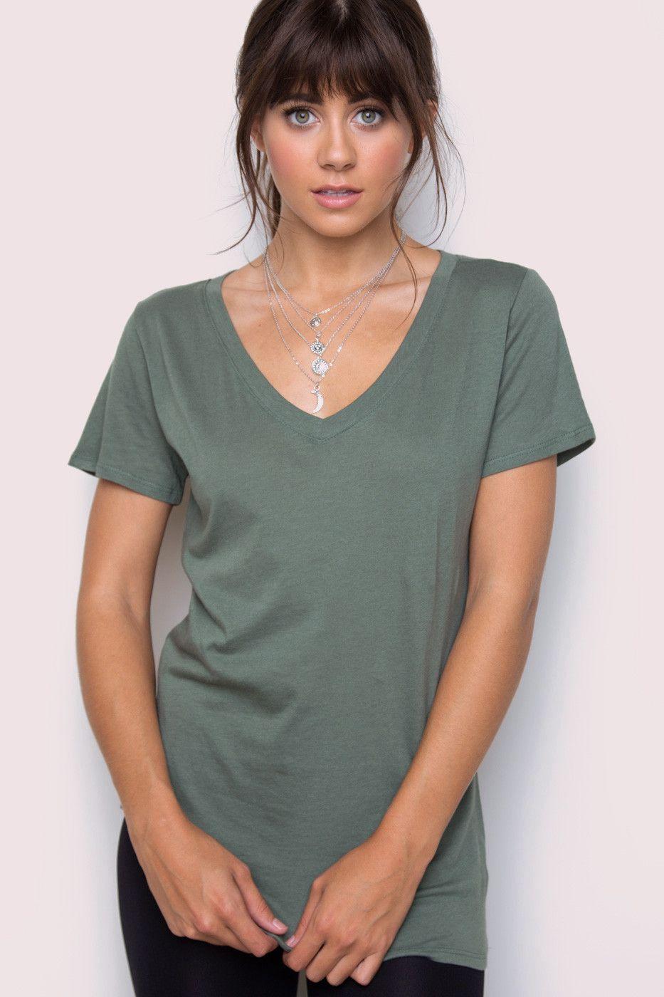 Jenna Basic Top in Olive