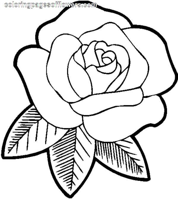 Pictures Of Flowers To Color In Rose Coloring Pages Flower Coloring Pages Spring Coloring Pages