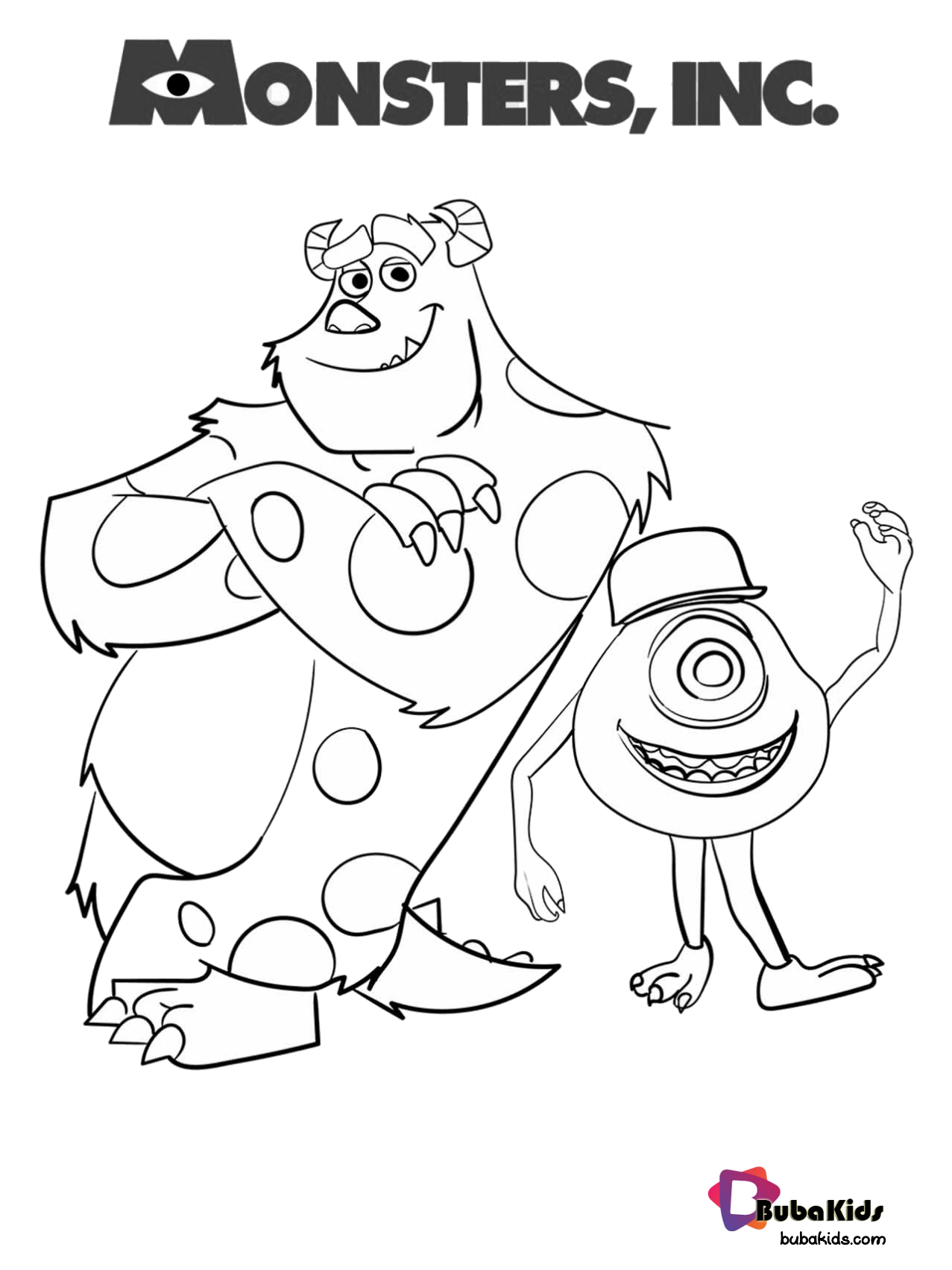 - Sulley And Mike Monster Inc Coloring Page. (With Images) Cartoon