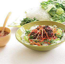 Vietnamese Noodle Salad with Pork Patties (Bún Cha)