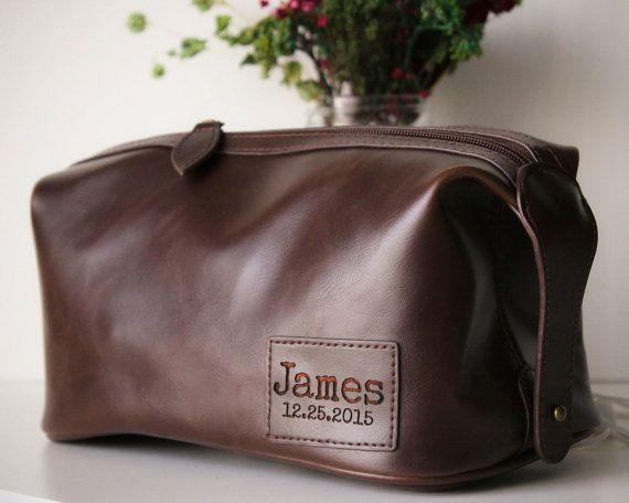 Personalized Groomsmen Gifts Mens Toiletry Bag Bags Dopp