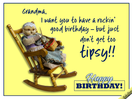 Does Your Grandma Rock Here Is A Birthday Ecard Just For Her Little