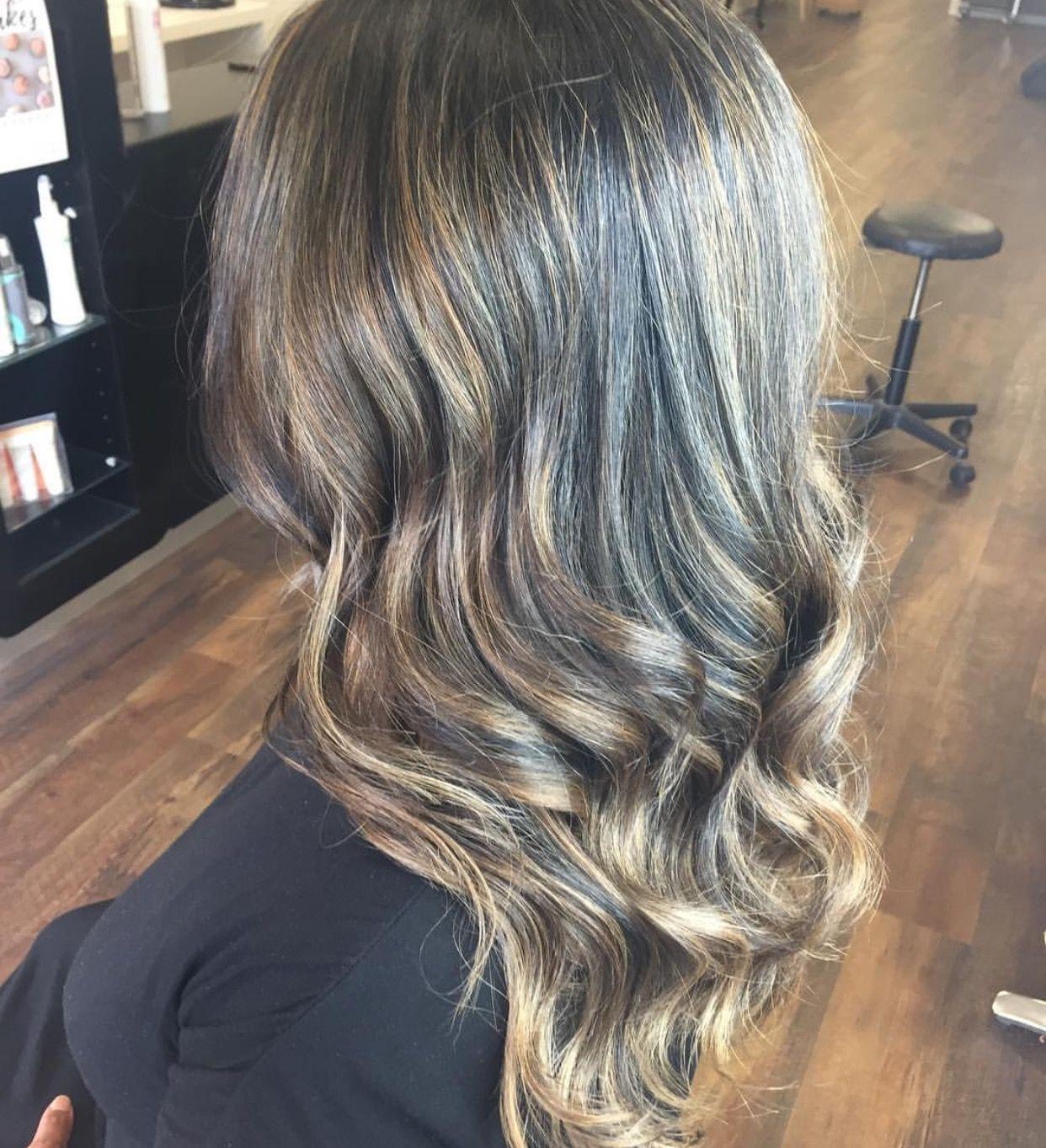 Black Indian Hair With Colour Melt Balayage Ash Brown And Caramel Tint Hair Color Indian Hairstyles Balayage