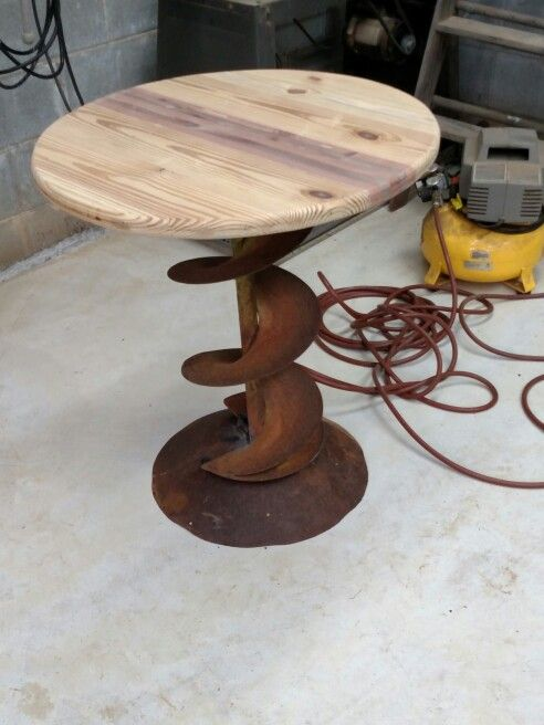 My Repurposed Tractor Part Table Junk I Love