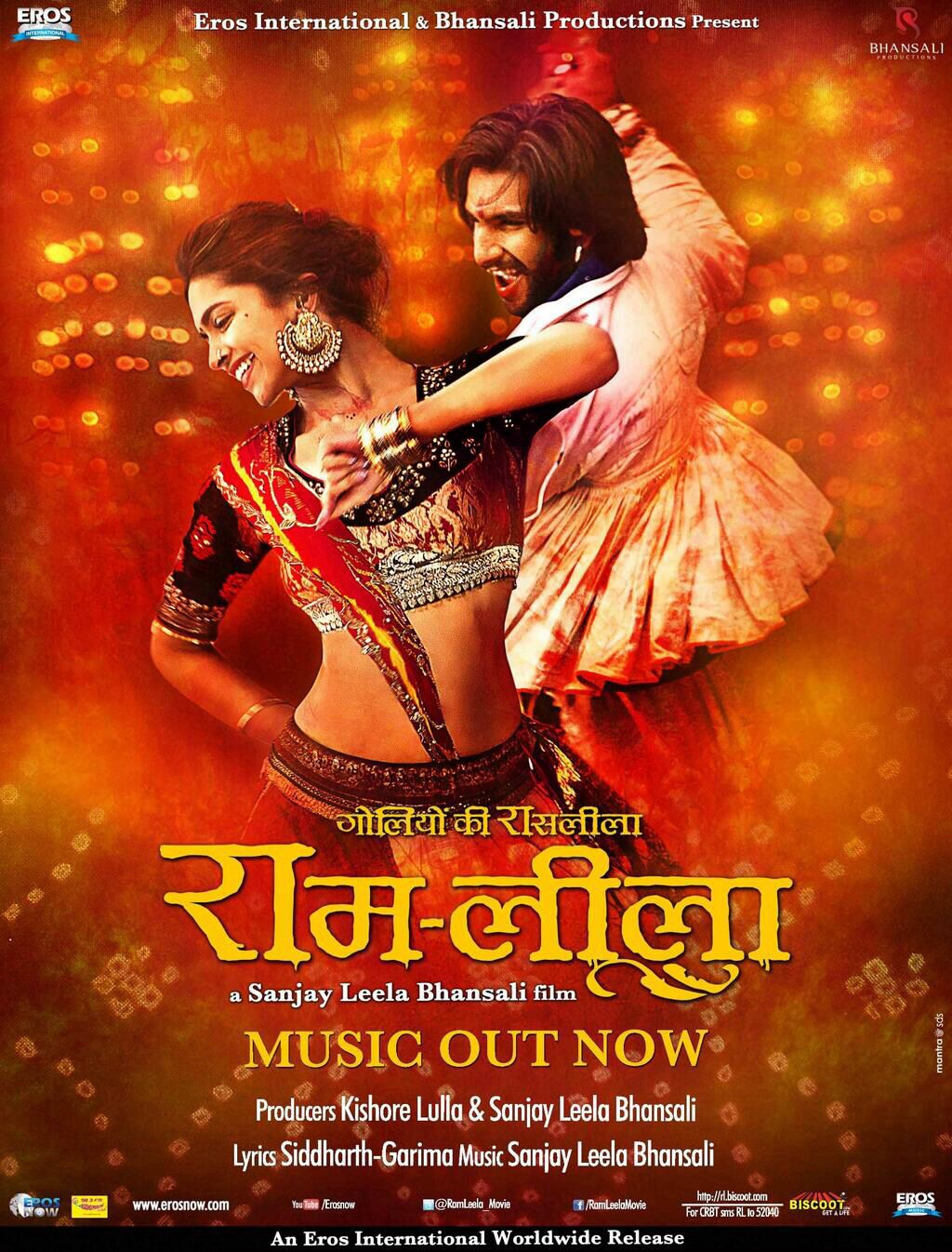 Ram Leela Poster Feat Deepika Padukone And Ranveer Singh Leela Movie Hindi Movies Movies By Genre