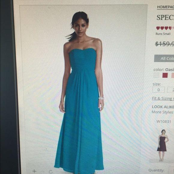 79c4a041055 NWT PROM David s bridal formal wear maxi dress NWT. Bridesmaid or formal  dress. Fits 8-10 Oasis blue. Dresses Prom