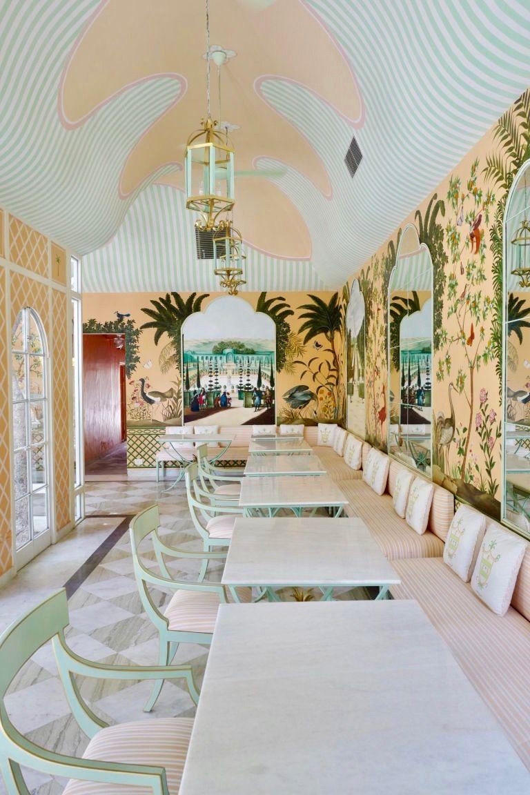 Caffe Palladio In Jaipur India In 2020 Restaurant Decor Restaurant Interior Design Design