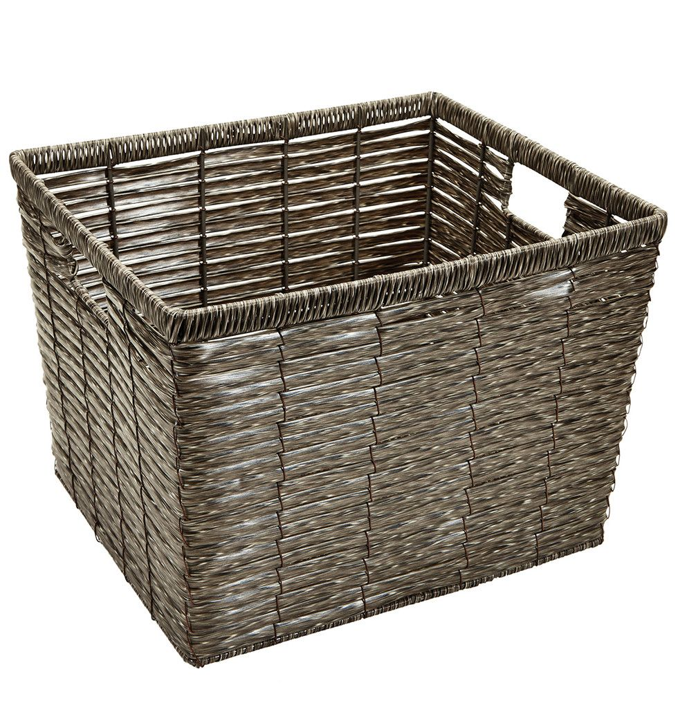 Faux rattan storage bin products pinterest rattan and products