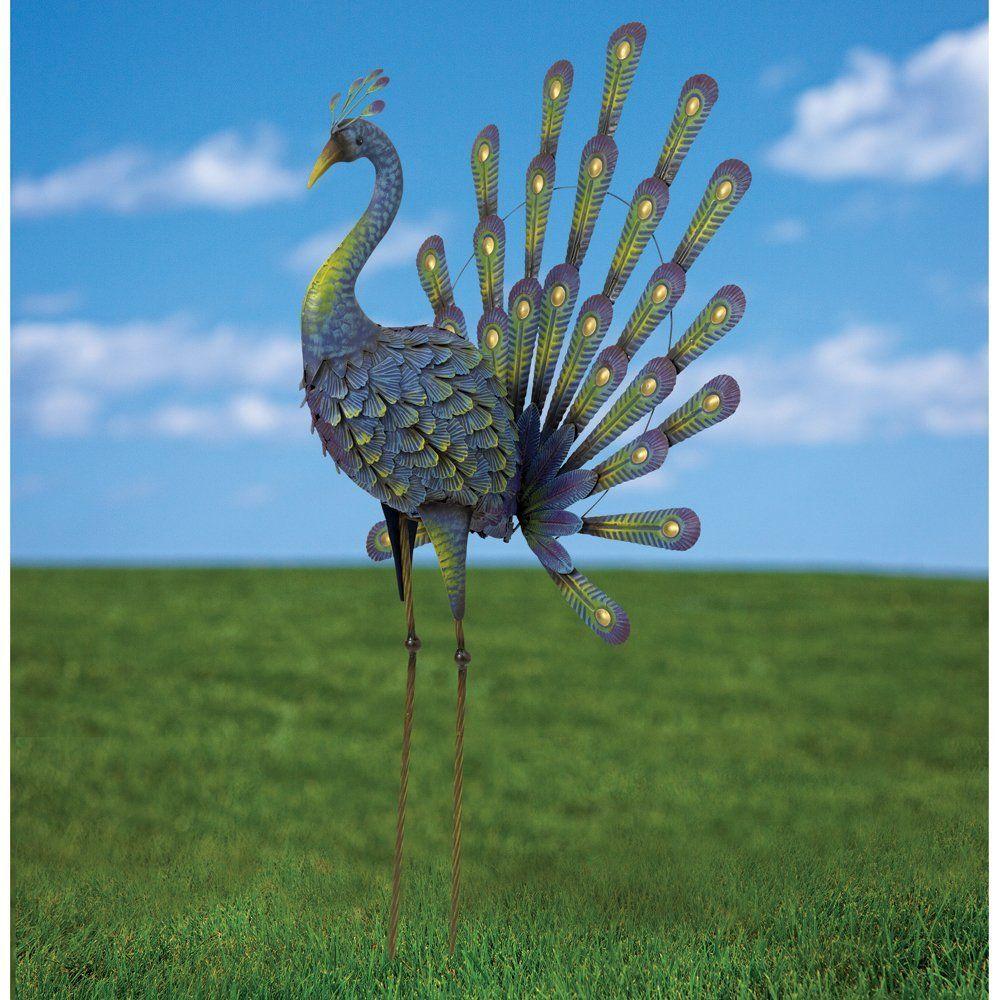 Bits and Pieces - Peacock Metal Garden Sculpture - Metal Peacock is ...