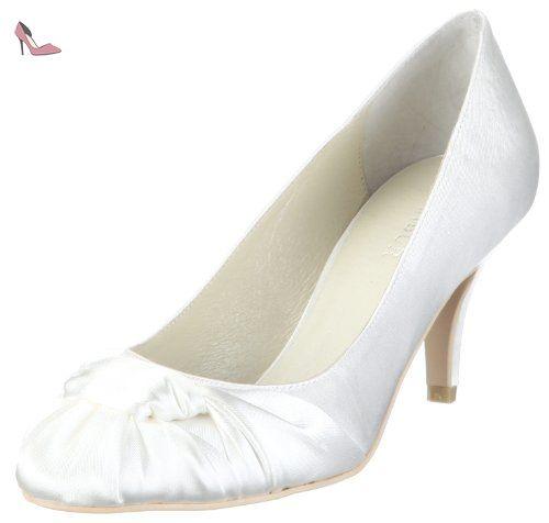 Menbur Wedding Baul, Damen Slingback Pumps, Elfenbein (Ivory), 39 EU