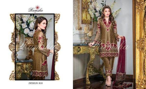7a10d2b228 Buy Online Ramsha Stardust Embroidered Chiffon Collection 2017-18 | PK Vogue