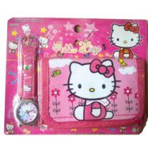 Hello Kitty Watch & Wallet Combo Girls Birthday Present Gift