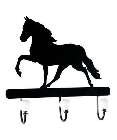 look at this zulilyfind horse three hook rack zulilyfinds