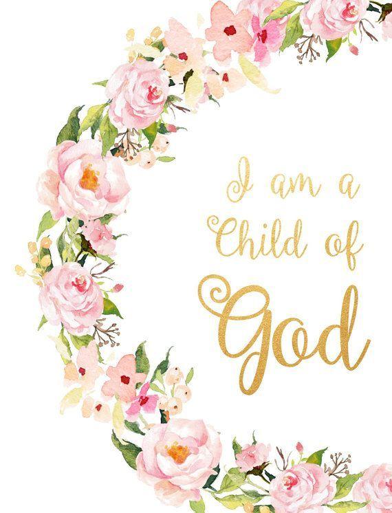 Ich bin ein Kind Gottes druckbare Bibelvers inspirierend  #bibelvers #childcrafts #druckbare #gottes #inspirierend