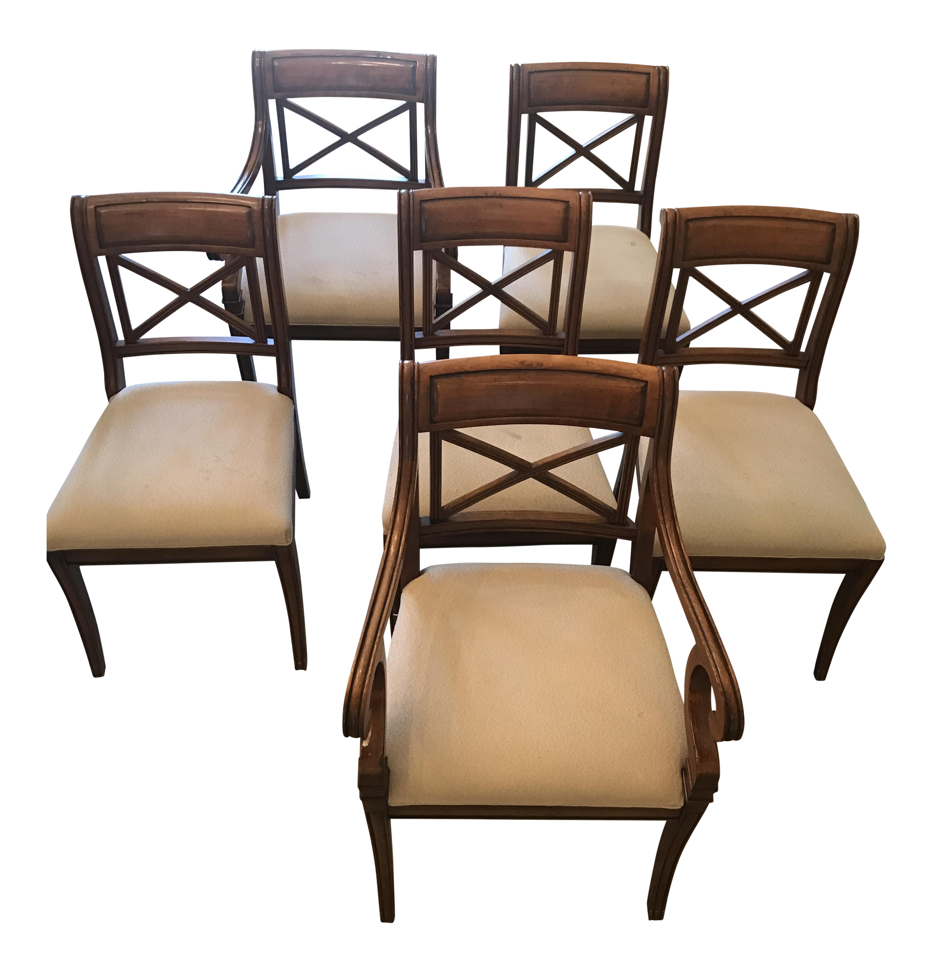Baker Regency Dining Room Chairs  Set Of 6  Regency Side Chair Captivating Cheap Dining Room Chairs Set Of 6 Decorating Design