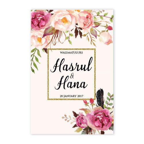Design Kad Kahwin Bunga