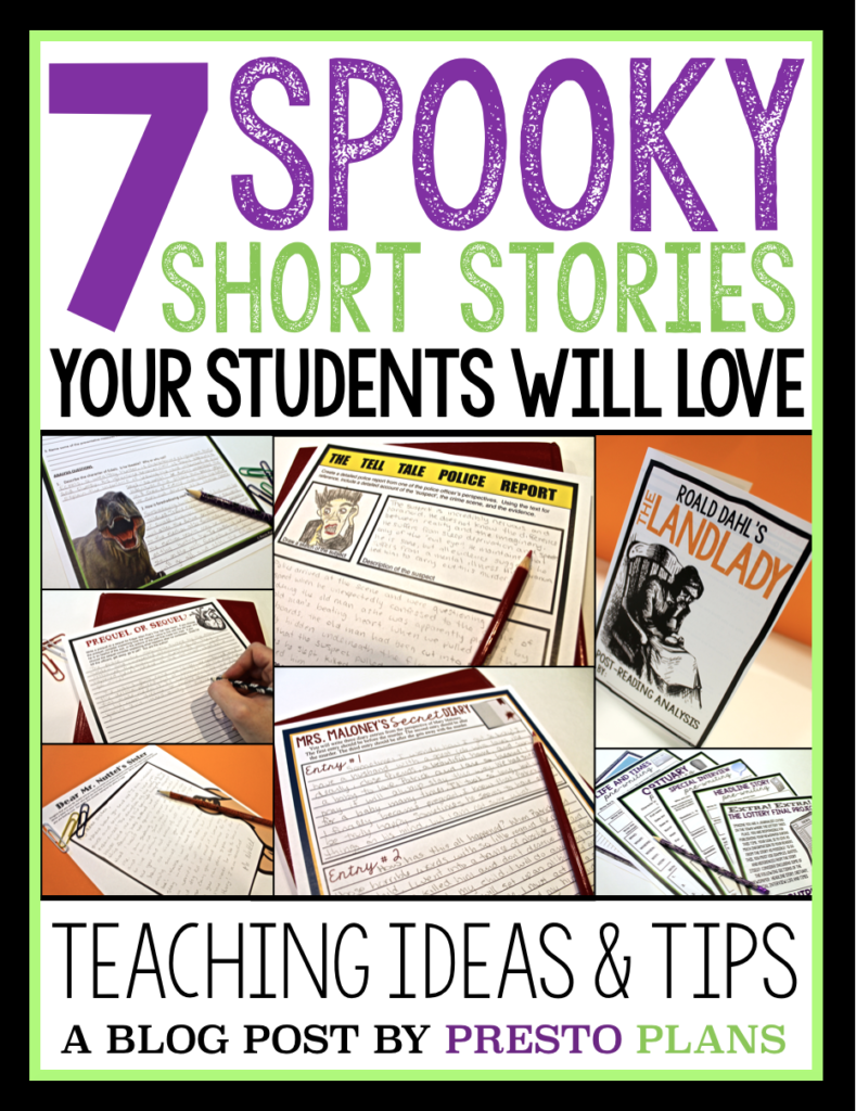 7 Scary Short Stories To Teach Around Halloween Middle