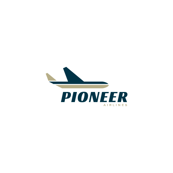 Daily Logo Challenge Day 12 Airlines Pioneer Airlines Designed By Tara Curtin Dailylogochallenge Logo Logodesign Lo Airline Logo Logos Challenges