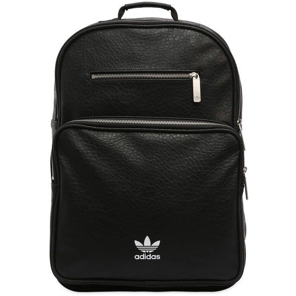 71ad1b60e0 Adidas Originals Men Ac F Bp Classic Faux Leather Backpack ( 120) ❤ liked  on Polyvore featuring men s fashion