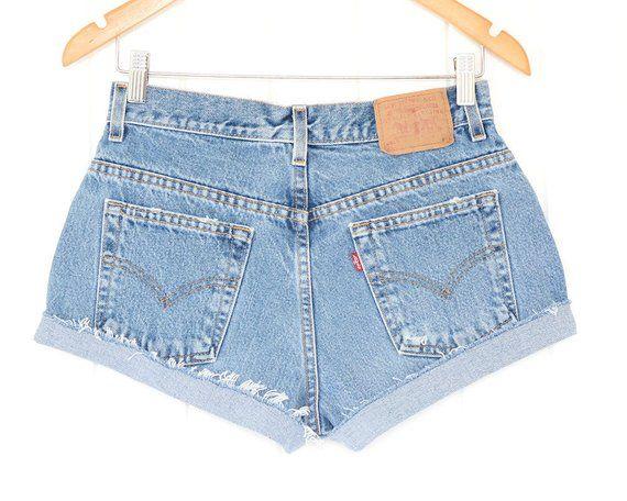 old levi shorts