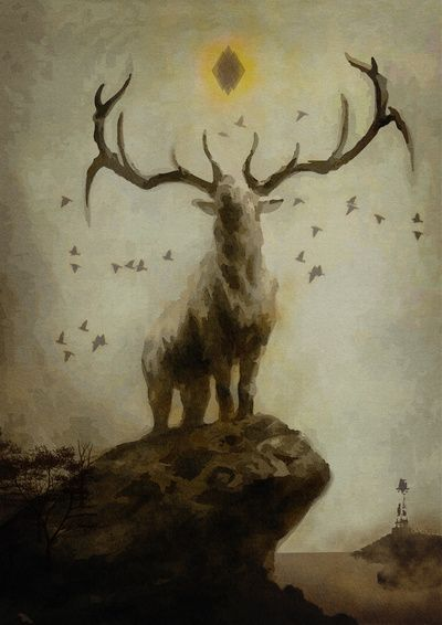 Majestic stag by Ebgraphics Animal illustration, Forest