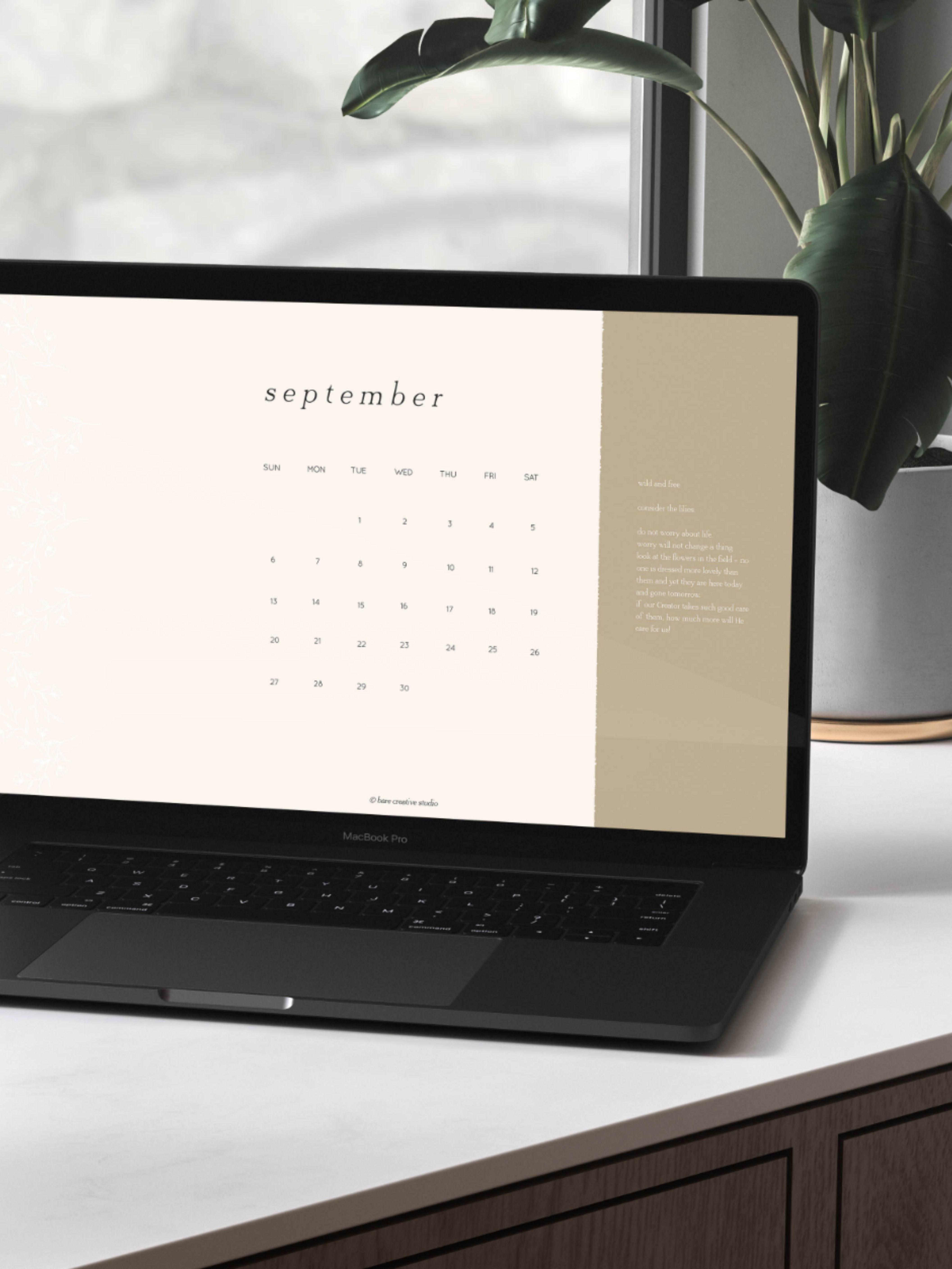 Desktop Wallpaper Calendar 2020 MacBook Desktop Calendar