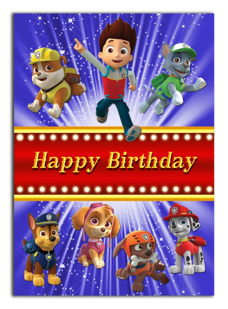 Details About 180 Paw Patrol Son Grandson Nephew Daughter