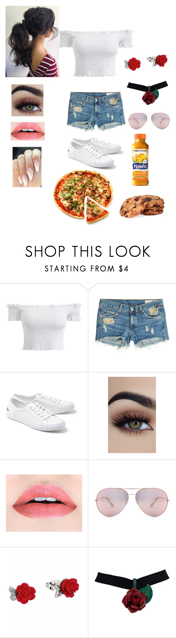 """""""Untitled #862"""" by jujuxx33 ❤ liked on Polyvore featuring rag & bone, Lacoste and Oliver Peoples"""