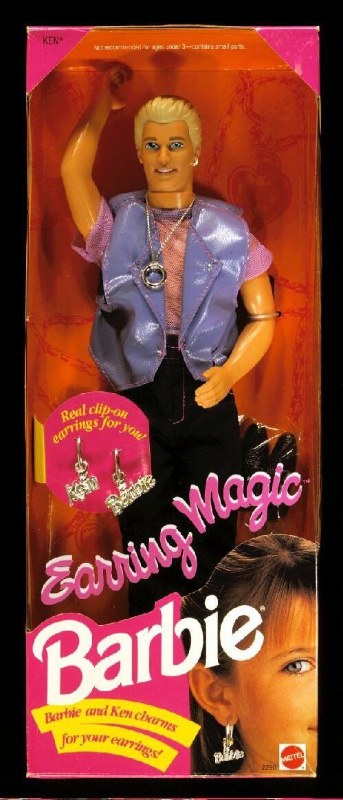 'Earring Magic Ken' doll by Mattel, in original box. This ...