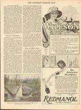1919 T.A. Willson Goggles Reading PA-Vintage Eyeglasses-Vintage Beach Theme Ad