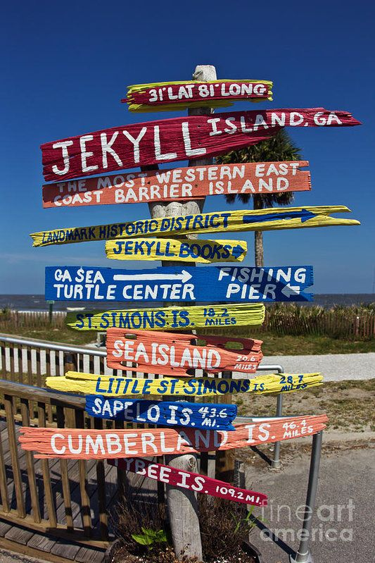Wood Print featuring the photograph Jekyll Island Sign by Joan McCool