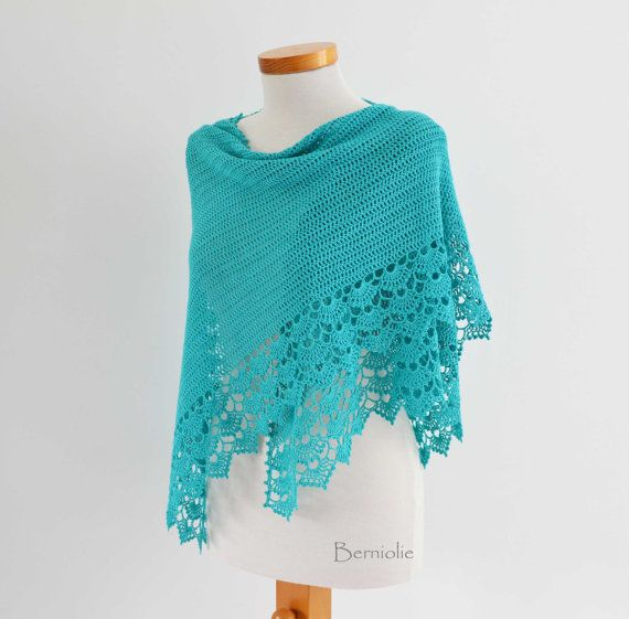 INSTANT DOWNLOAD, SPRING, Crochet shawl pattern pdf | artesanato ...