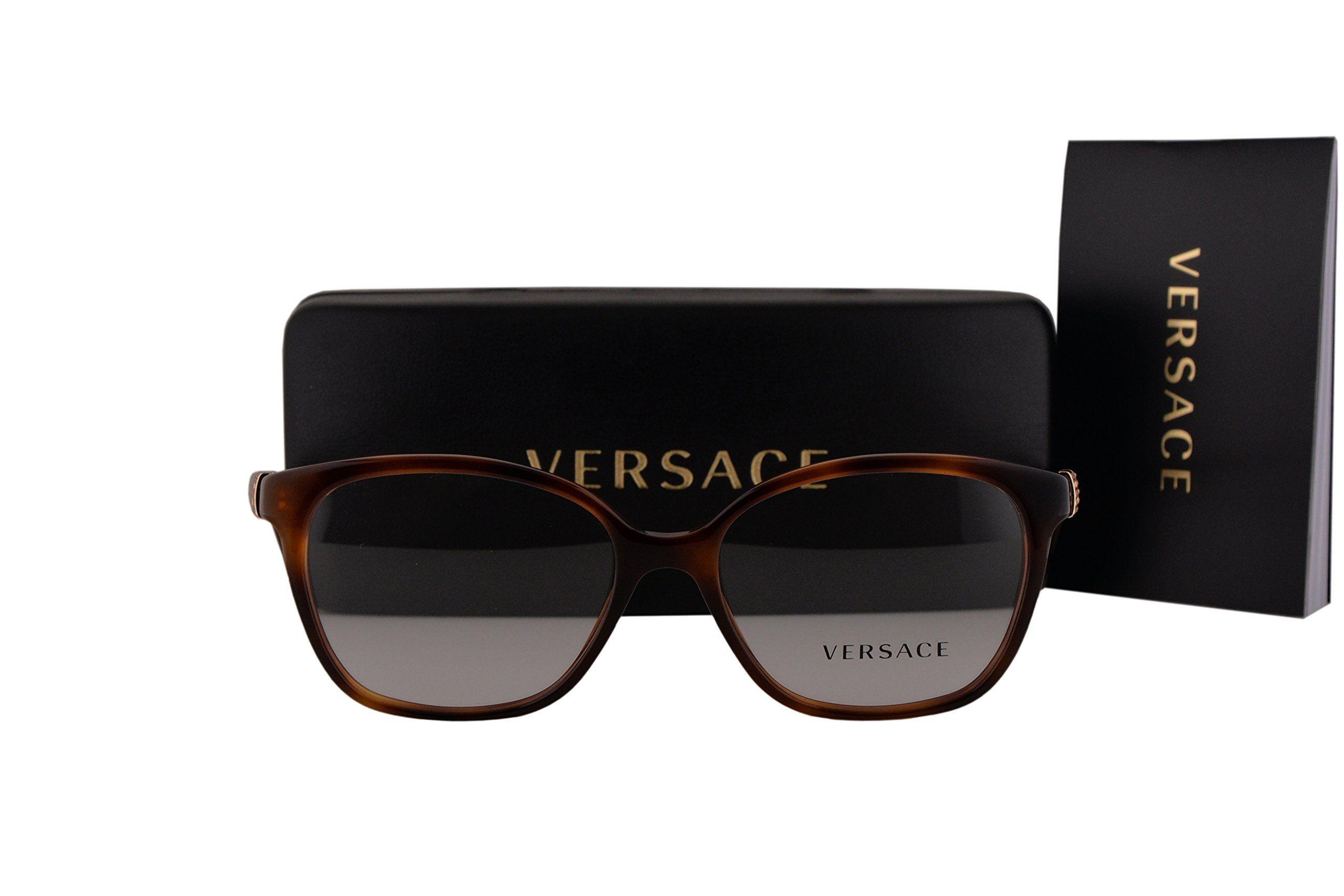 64fc1de9bd2 Versace VE3235B Eyeglasses 52-16-140 Havana 5217 VE 3235B. Versace ...