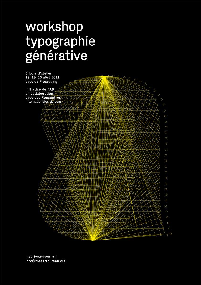 Workshop Typographie Generative Typography Graphic Generative Design Graphic Design Art