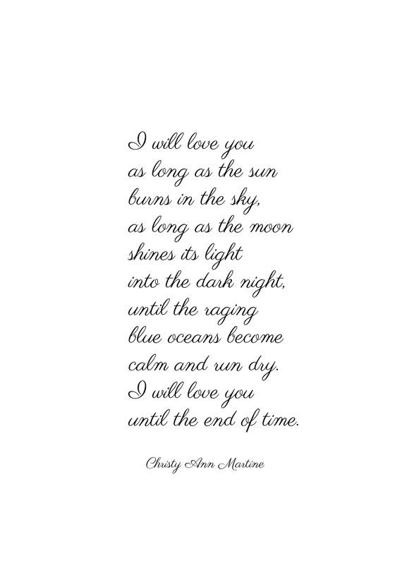 Living Room Decor for Couples - Romantic Love Poem by Christy Ann Martine