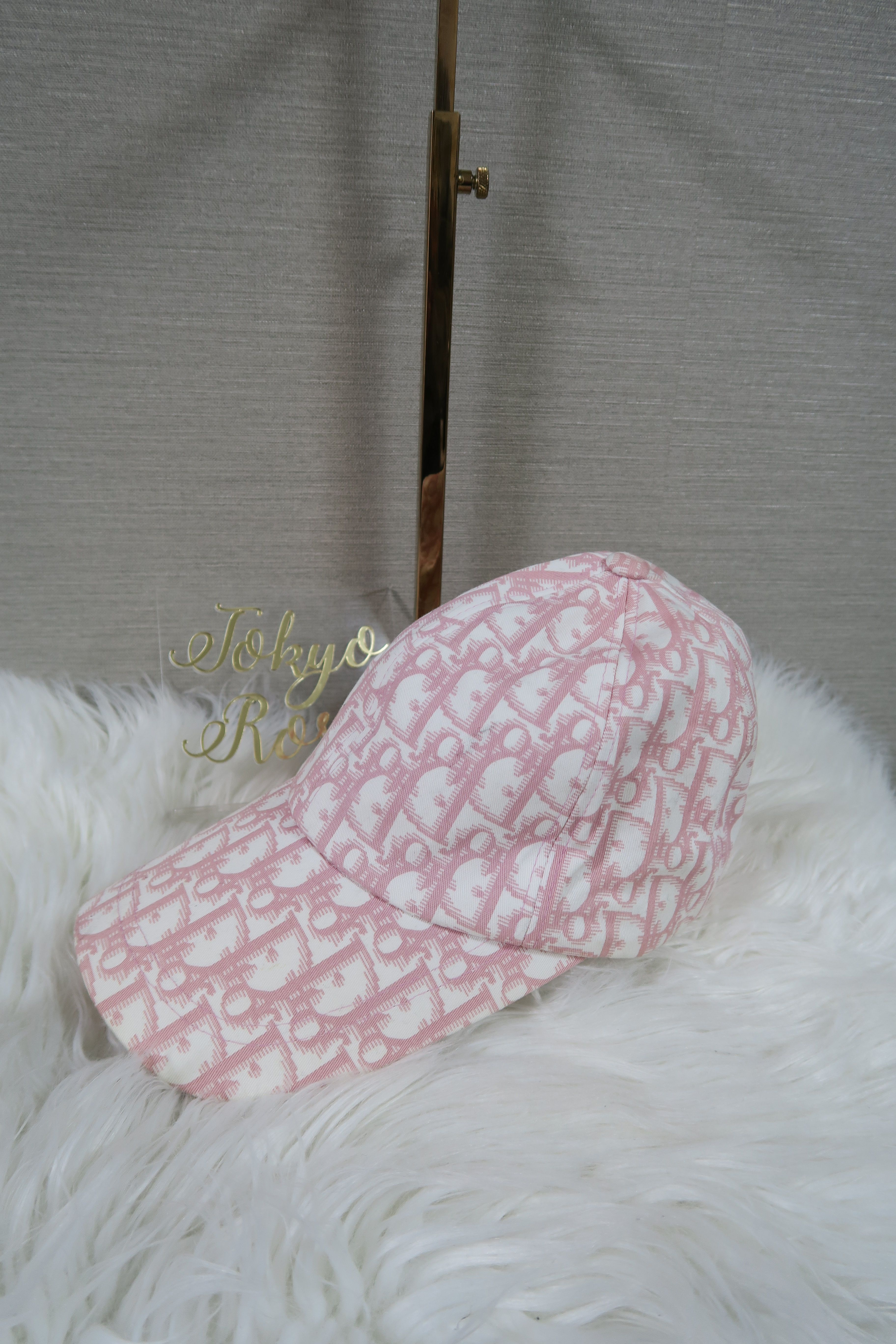 b7959e2e78b2c Pink Christian Dior Hat Trotter Logo Monogram Print Cap | Vintage ...