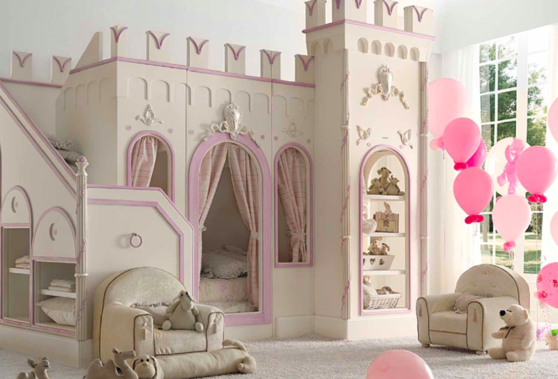 Les plus belles chambres d 39 enfants qui vous donneront - Lit chateau pour petite fille ...