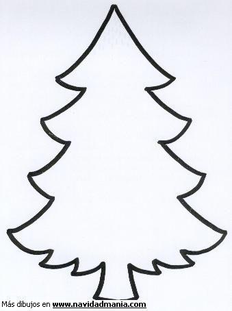 Imagenes de arboles de navidad para colorear grandes